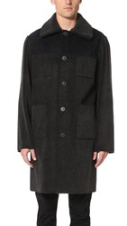 Opening Ceremony Eco Sherpa Reversible Overcoat Black