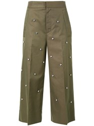 Muveil Embellished Culottes Green