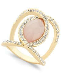 Inc International Concepts Gold Tone Large Stone Openwork Statement Ring Only At Macy's Pink