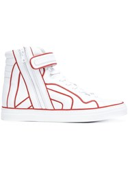 Pierre Hardy 'Match' Hi Top Sneakers White