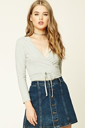 Forever 21 Wrap Front Crop Top