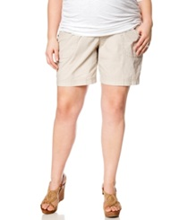 Motherhood Maternity Plus Size Cargo Shorts