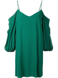 Alice Olivia Cold Shoulder V Neck Dress Green