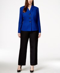 Le Suit Plus Size Three Button Jacket Pantsuit