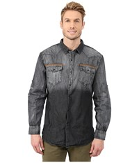 Scully Darrin Denim Shirt Charcoal Men's Long Sleeve Button Up Gray
