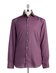 Pure Slim Fit Dotted Sportshirt Purple