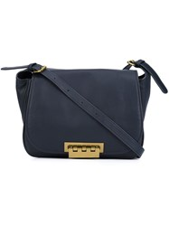 Zac Posen 'Eartha Saddle' Crossbody Bag Blue