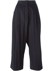 Studio Nicholson 'Bethany' Cropped Trousers Blue