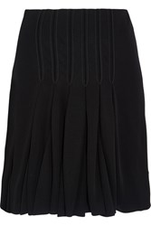 Atlein Pleated Stitched Jersey Skirt Black