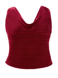Chesca Plus Size Pleated Camisole Red