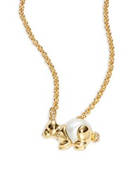 Kate Spade Spirit Animal Rabbit Pendant Necklace Gold