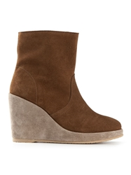 A.P.C. Wedged Ankle Boots Brown