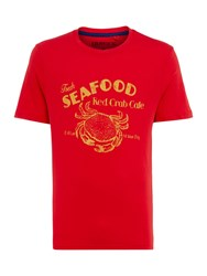 Howick Crab Printed T Shirt Red