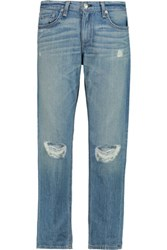 Rag And Bone Cropped Distressed Low Rise Boyfriend Jeans Light Denim