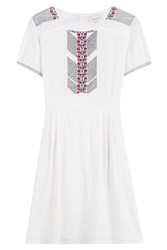 Paul And Joe Embroidered Cotton Dress White