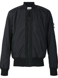 Stone Island Zip Up Bomber Jacket Black