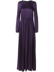 Rochas Pleated Gown Pink Purple