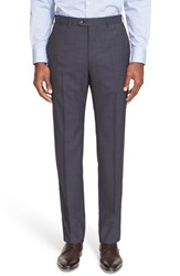 Armani Collezioni Men's Flat Front Wool Trousers