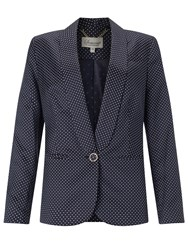 Alice By Temperley Somerset By Alice Temperley One Button Pin Dot Jacket Navy