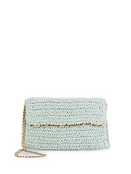Saks Fifth Avenue Straw Clutch Mint