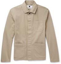Nn.07 Oscar Slim Fit Cotton Blend Canvas Field Jacket Neutrals