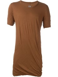 Rick Owens Draped T Shirt Brown