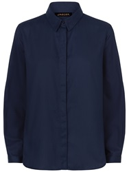 Jaeger Basketweave Cotton Shirt Midnight
