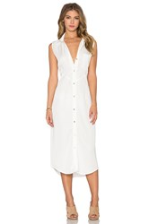 Benjamin Jay Lexington Button Up Dress White