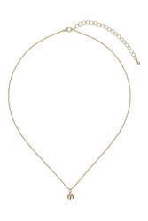Topshop Small Elephant Necklace Gold