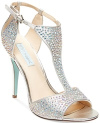 Blue By Betsey Johnson I Do Evening Sandals Women's Shoes Silver