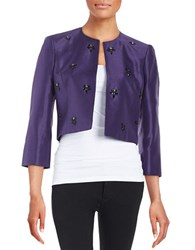 Nipon Boutique Embellished Jacket Plum
