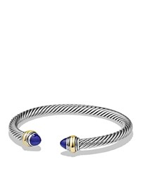 David Yurman Cable Classics Bracelet With Lapis Lazuli And 14K Gold Blue Silver