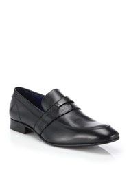 Saks Fifth Avenue Leather Penny Loafers
