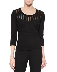 Escada Art Nouveau Dondi Top Black