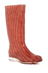 Toms Cabrilla Herringbone Waterproof Rain Boot Red