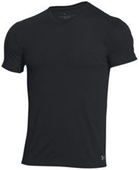 Under Armour Men's V Neck T Shirt Blk Stl