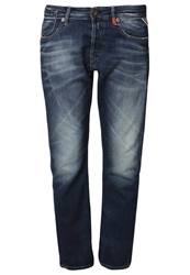 Replay Leena Relaxed Fit Jeans Mid Blue Denim