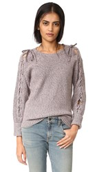 Rebecca Minkoff Malcom Lace Up Sweater Candy Marled