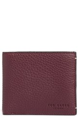 Ted Baker Men's London 'Dock' Leather Wallet Red Oxblood