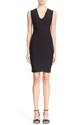 Alexander Wang Women's T By Ribbed Body Con Dress Black