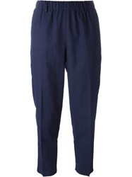 Forte Forte Tapered Cropped Trousers Blue