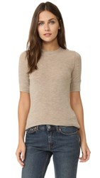 Vince Short Sleeve Crew Neck Top H Taupe