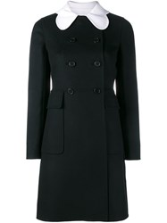 Valentino Double Breasted Coat Black