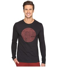Hurley Circular Long Sleeve Tee Black Men's T Shirt