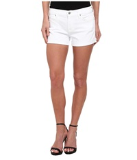 7 For All Mankind Roll Up Short In Clean White Clean White Women's Shorts
