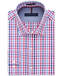 Tommy Hilfiger Slim Fit Non Iron Raspberry Multi Check Dress Shirt
