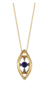 Noor Fares Krystallos Radial Amulet Pendant In Lapis Lazuli With Yellow Gold And White Diamonds Blue