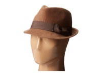 San Diego Hat Company Cth3718 Faux Wool Felt Fedora With Grosgrain Bow Band Light Brown Fedora Hats Tan