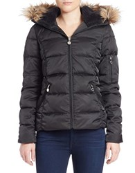 Betsey Johnson Faux Fur Trimmed Puffer Jacket