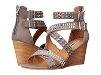 Not Rated Serpentina Grey Women's Wedge Shoes Gray